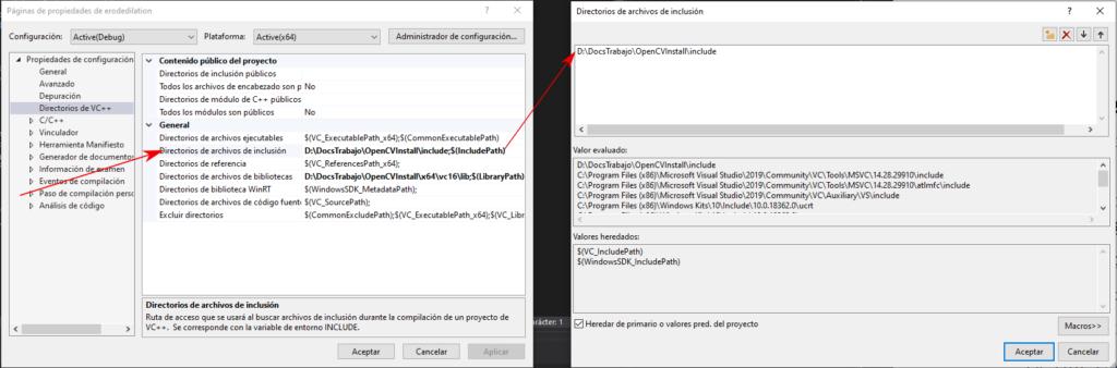 Visual Studio Include
