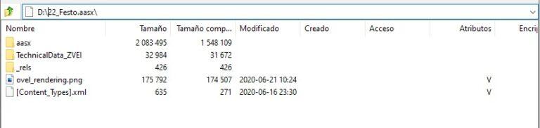 Visualización de los archivos del AAS