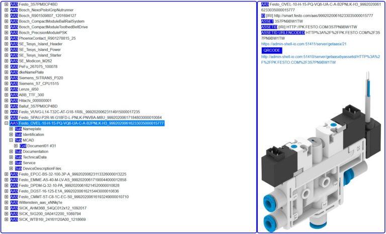 Servidor online de un Asset Administration Shell